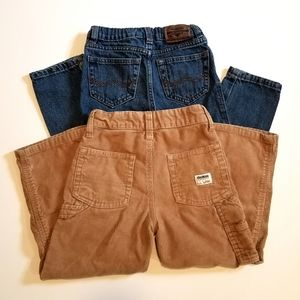 Boys Denim and Corduroy Pant Bundle, 4T